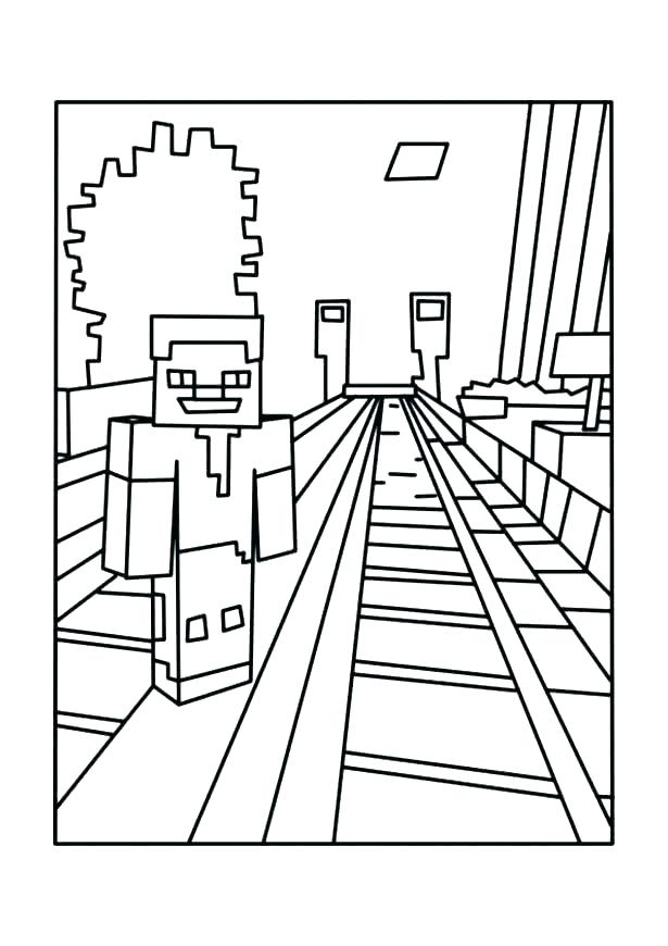Minecraft Coloring Pages Herobrine at GetColorings.com