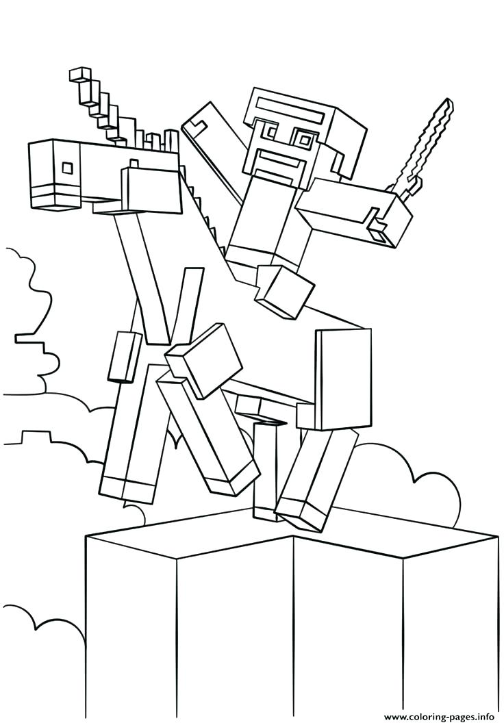 Minecraft Pickaxe Coloring Pages at GetColorings.com