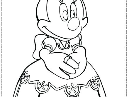 Minnie Mouse Face Coloring Pages at GetColorings.com