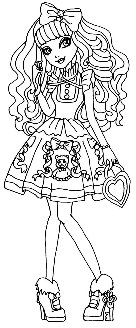 Monster High Coloring Pages Catty Noir at GetColorings.com