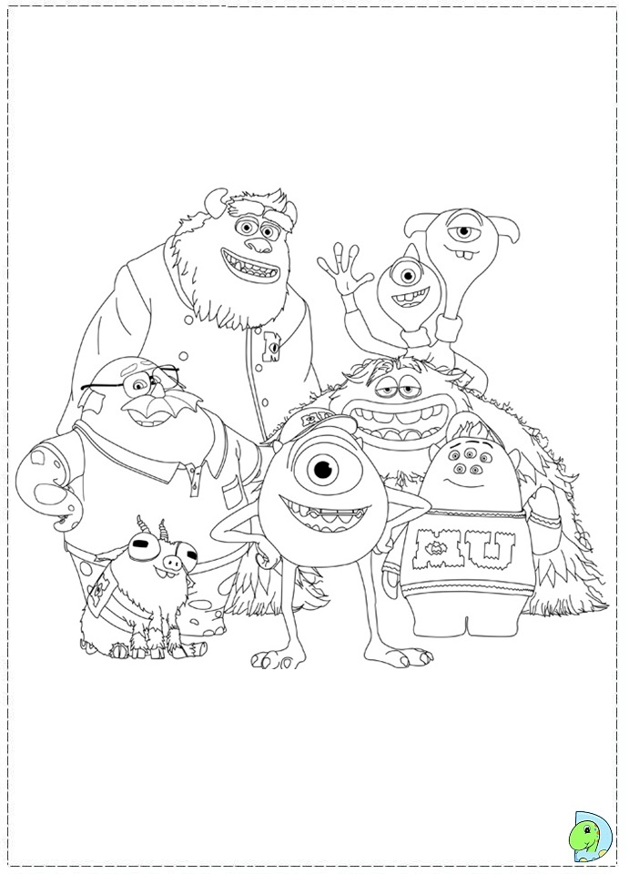 Monsters Inc Characters Coloring Pages at GetColorings.com