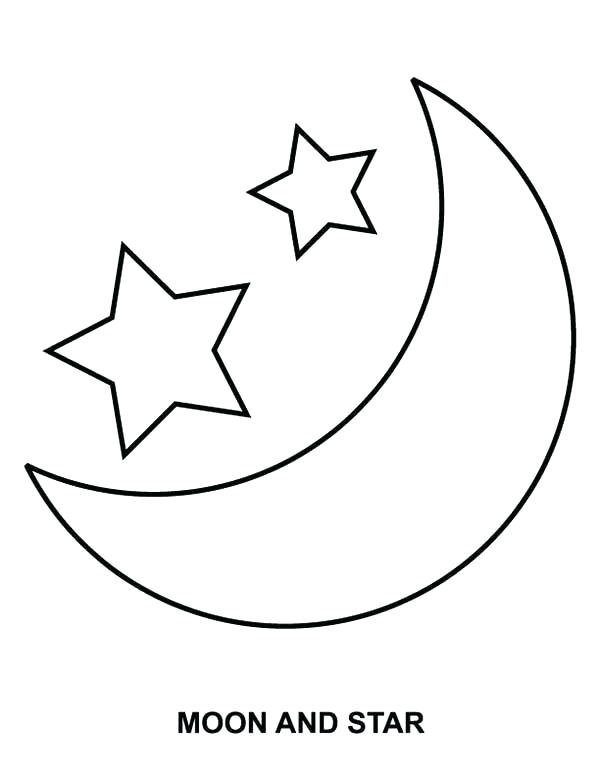 Moon And Stars Coloring Pages Printable at GetColorings