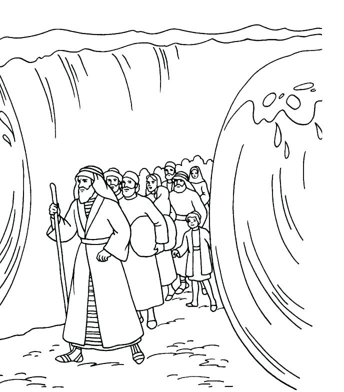 Moses And The Red Sea Coloring Page at GetColorings.com