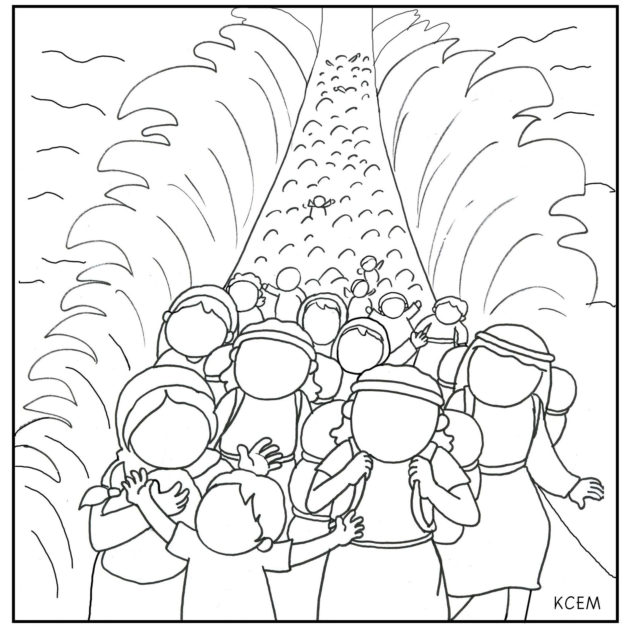 Moses And The Red Sea Coloring Page At Getcolorings