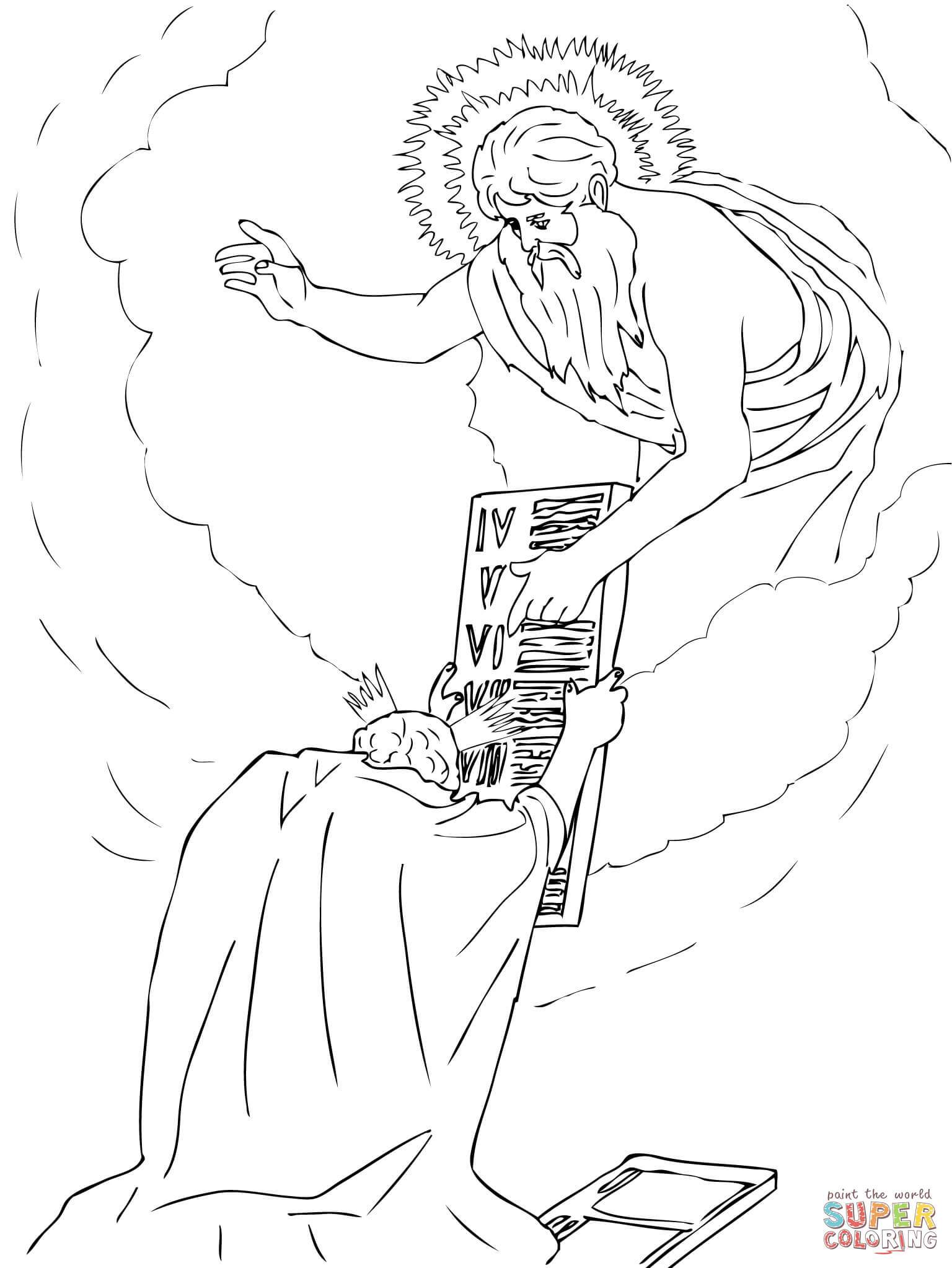Moses Ten Commandments Coloring Pages At Getcolorings