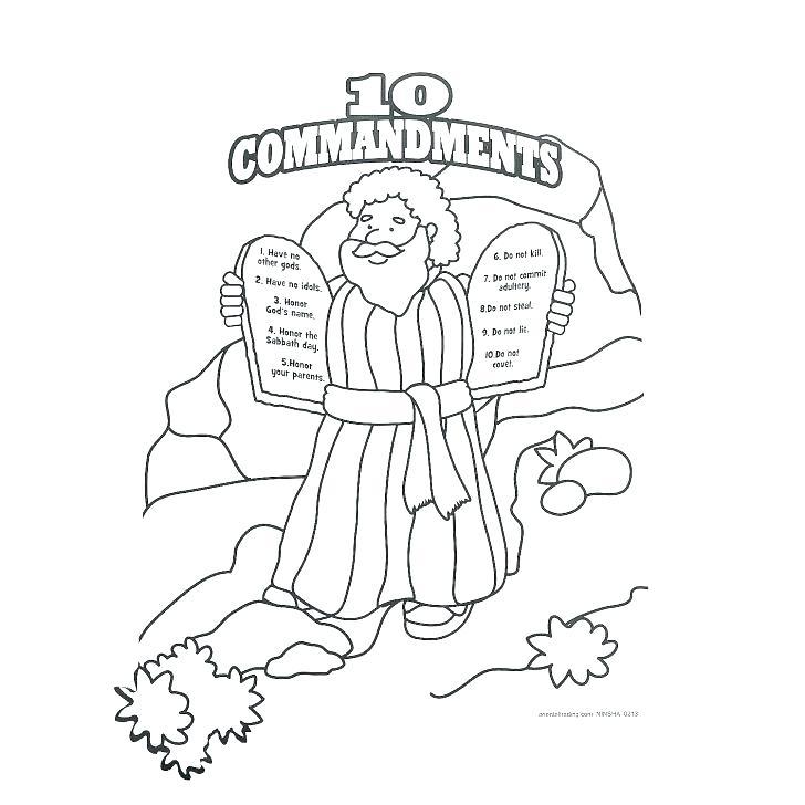 Moses Ten Commandments Coloring Pages at GetColorings.com