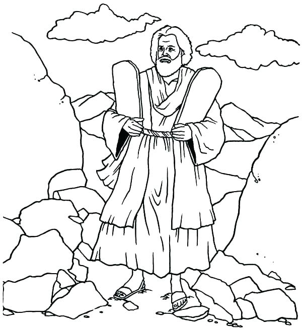 Moses Ten Commandments Coloring Pages at GetColorings.com