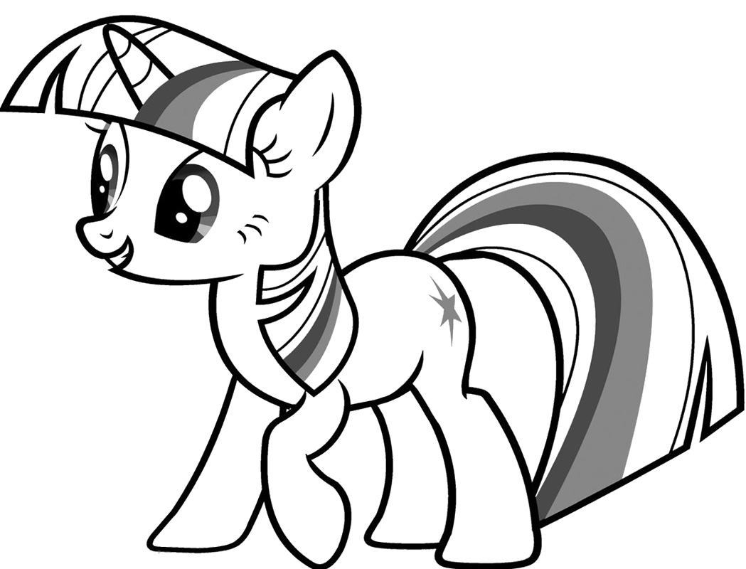 My Little Pony Coloring Pages Princess Twilight Sparkle at