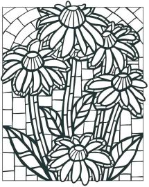 Mystery Mosaic Coloring Pages at GetColoringscom Free