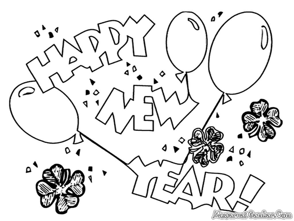 New Years Coloring Pages At Getcolorings