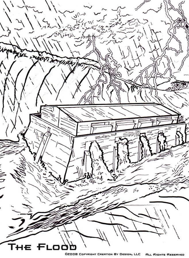 Noah And The Flood Coloring Pages at GetColorings.com