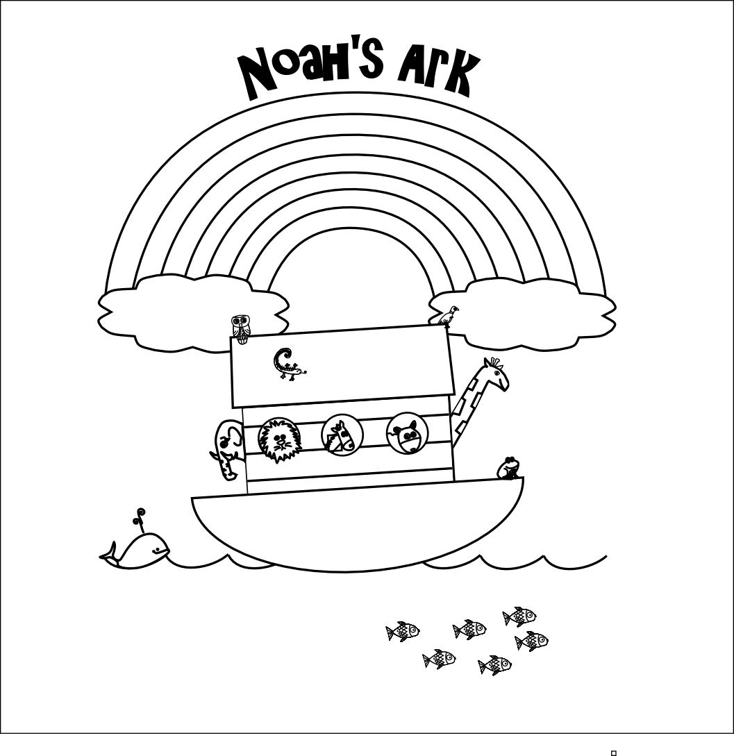 Noahs Ark Printable Coloring Pages At Getcolorings