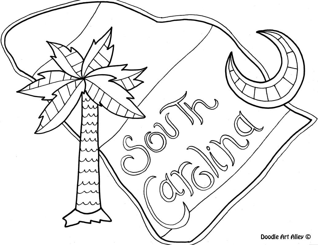 North Carolina State Symbols Coloring Pages at