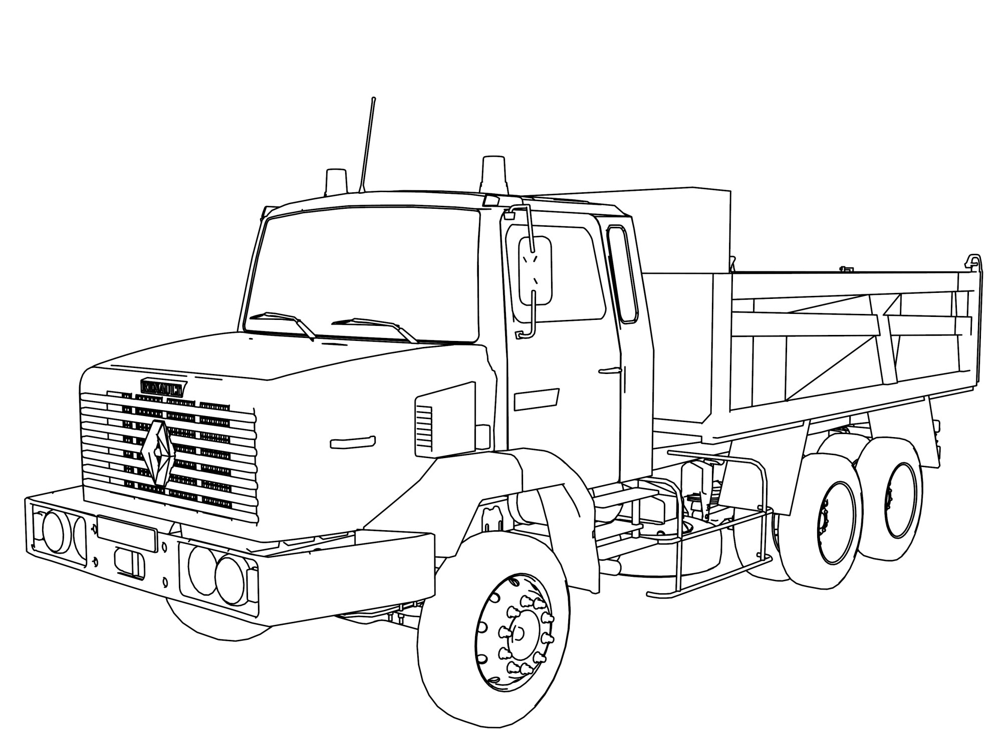 hight resolution of 3333x2500 fresh 18 wheeler truck coloring pages vehicle coloring page