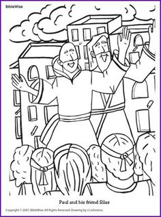Paul And Silas In Prison Coloring Page at GetColorings.com