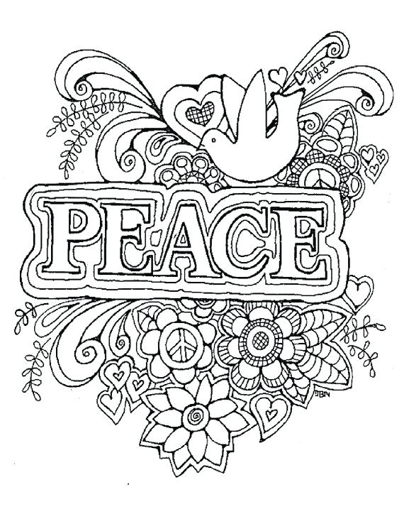 Peace Sign Coloring Pages For Adults at GetColorings.com