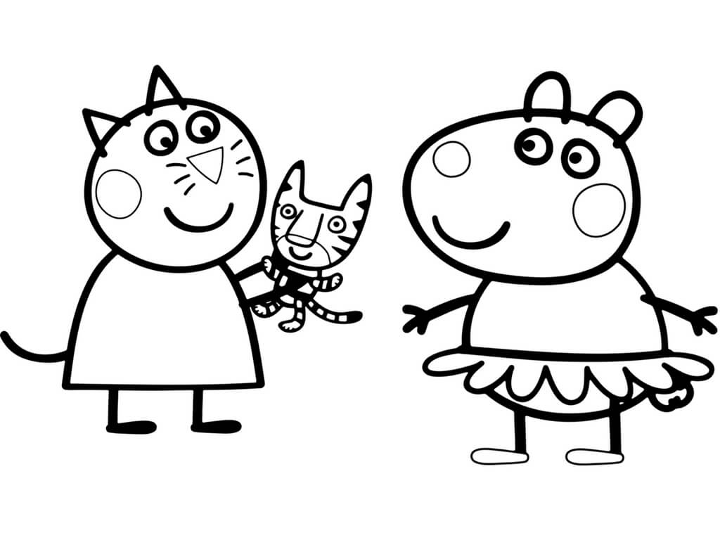 Peppa Pig George Coloring Pages At Getcolorings