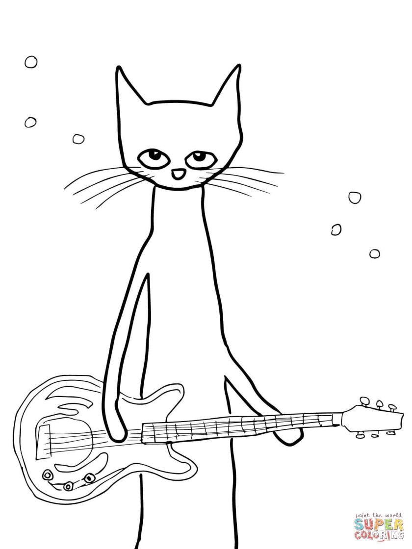 pete the cat coloring page at getcolorings  free