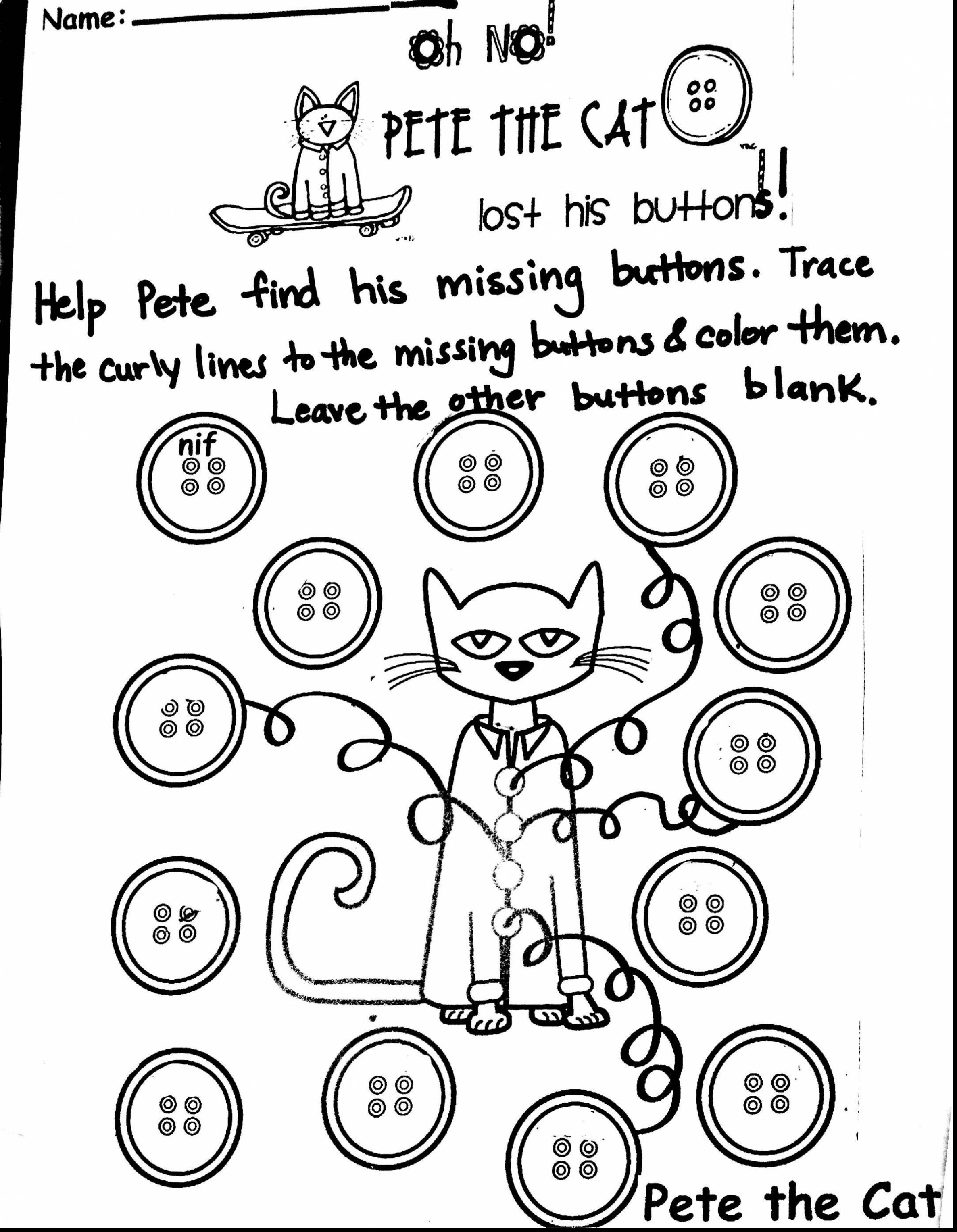 Pete The Cat Coloring Page At Getcolorings
