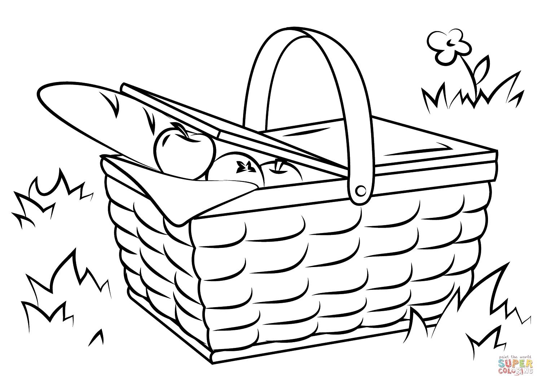 Picnic Basket Coloring Page At Getcolorings