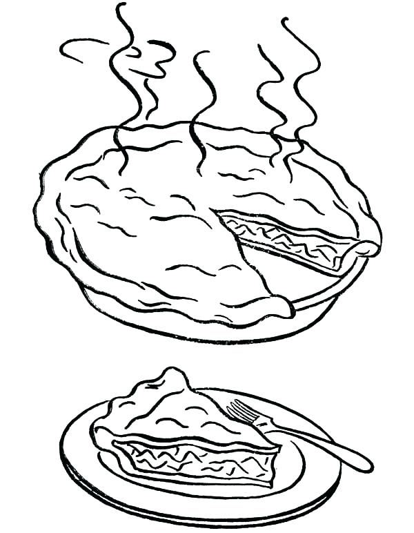 pie coloring pages printable at getcolorings  free