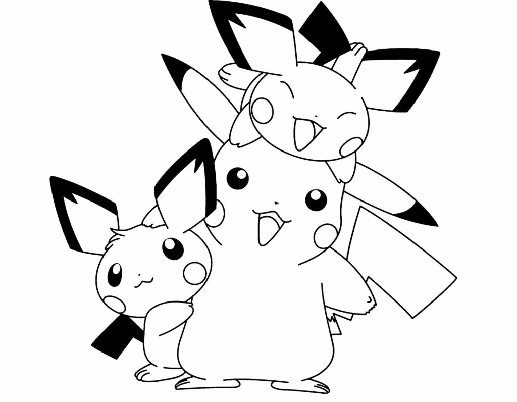 Pikachu And Pichu Coloring Pages at GetColorings.com