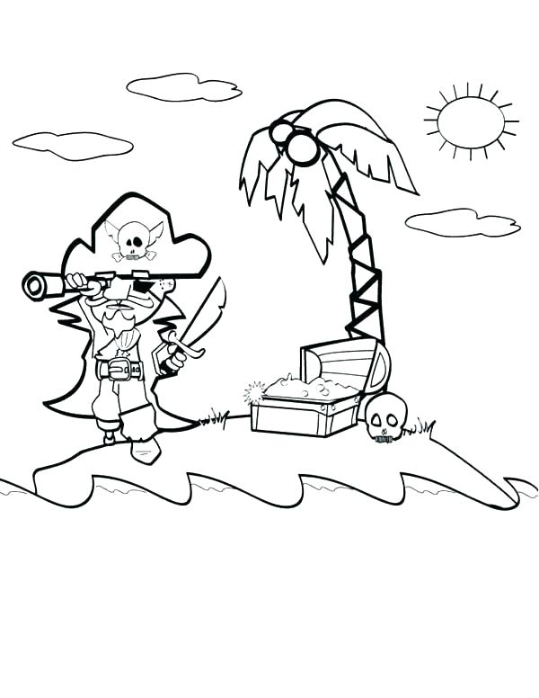 Pirate Flag Coloring Page Sketch Coloring Page