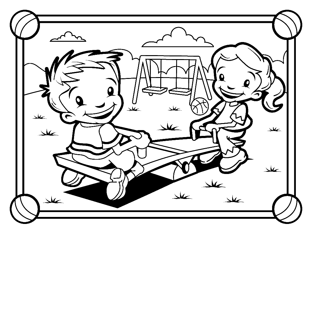 Playground Coloring Pages At Getcolorings