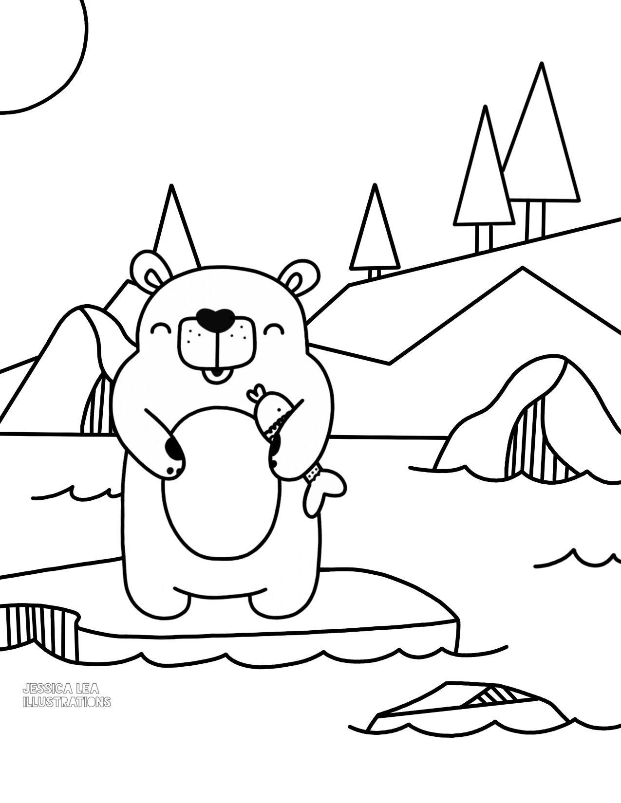 Polar Bear Printable Coloring Pages At Getcolorings
