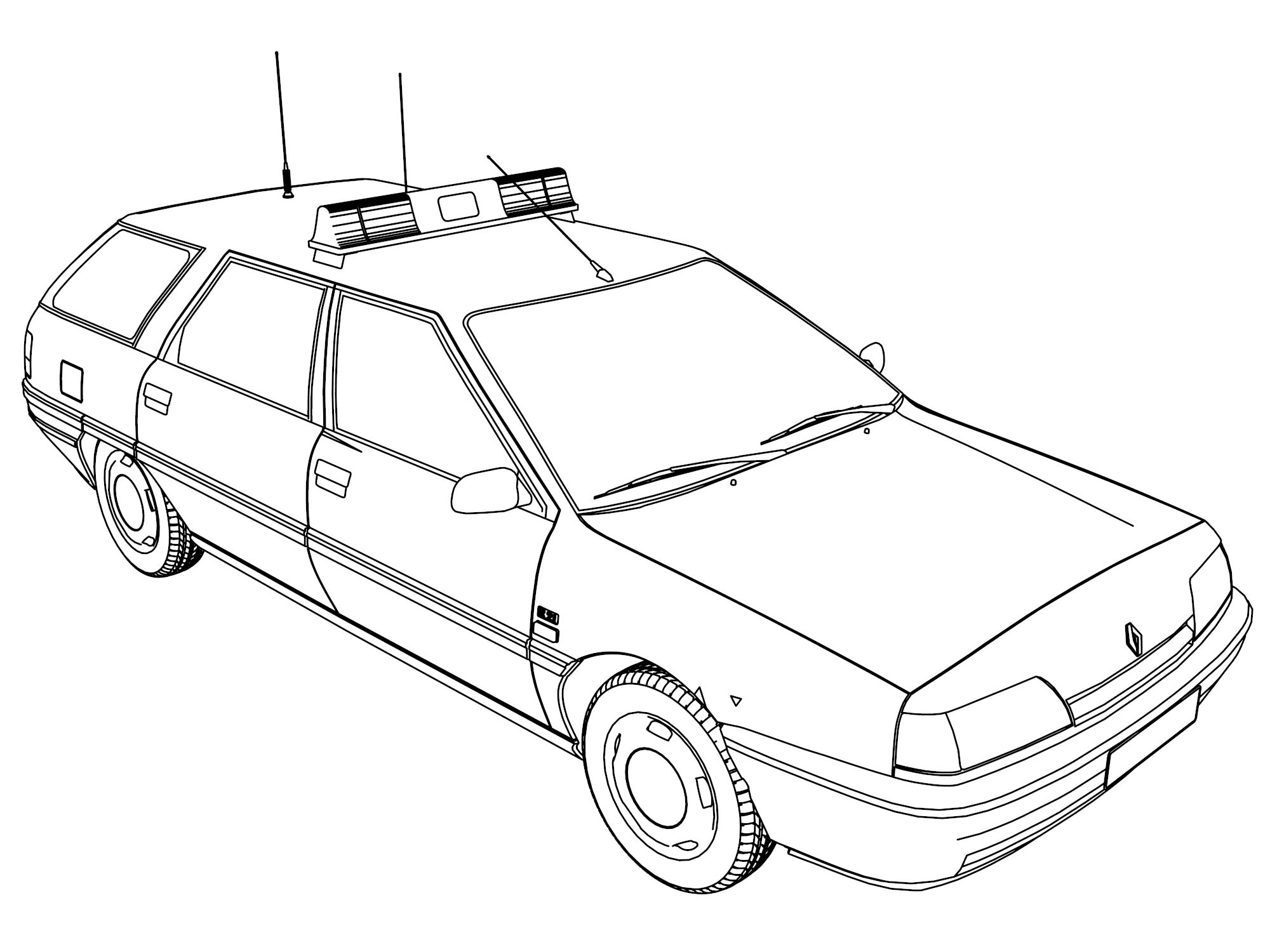 Police Car Coloring Pages Printable at GetColorings.com