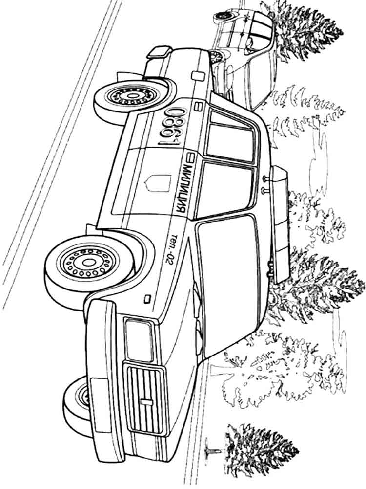 Police Car Coloring Pages To Print at GetColorings.com