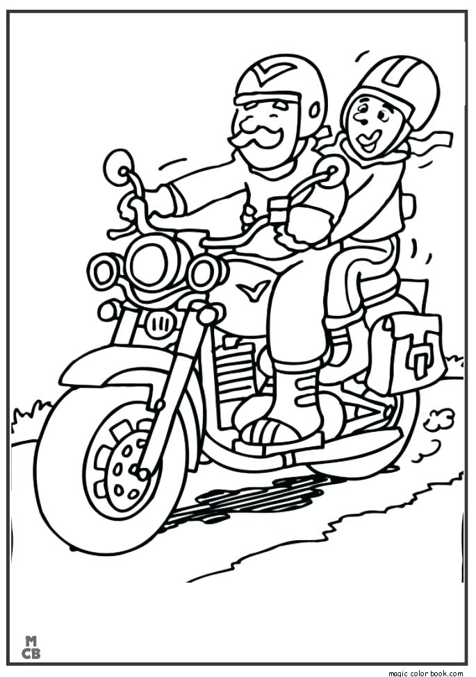 Police Motorcycle Coloring Pages at GetColorings.com