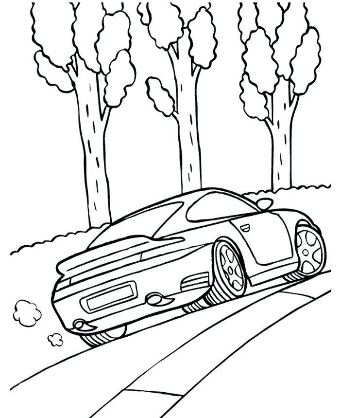 Porsche 911 Kleurplaat