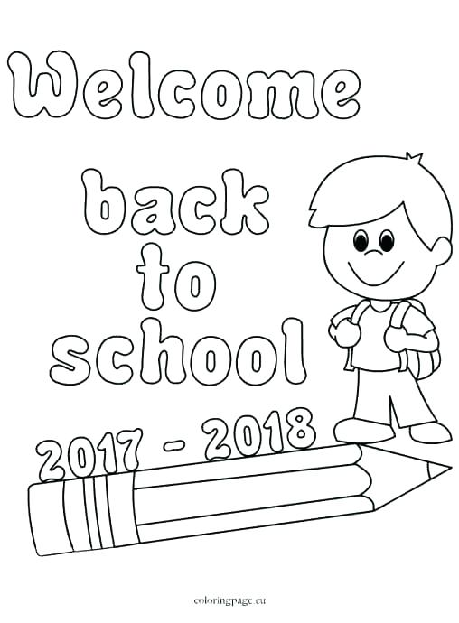 Preschool Back To School Coloring Pages at GetColorings
