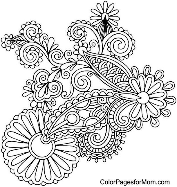 Printable Adult Coloring Pages Paisley at GetColorings.com