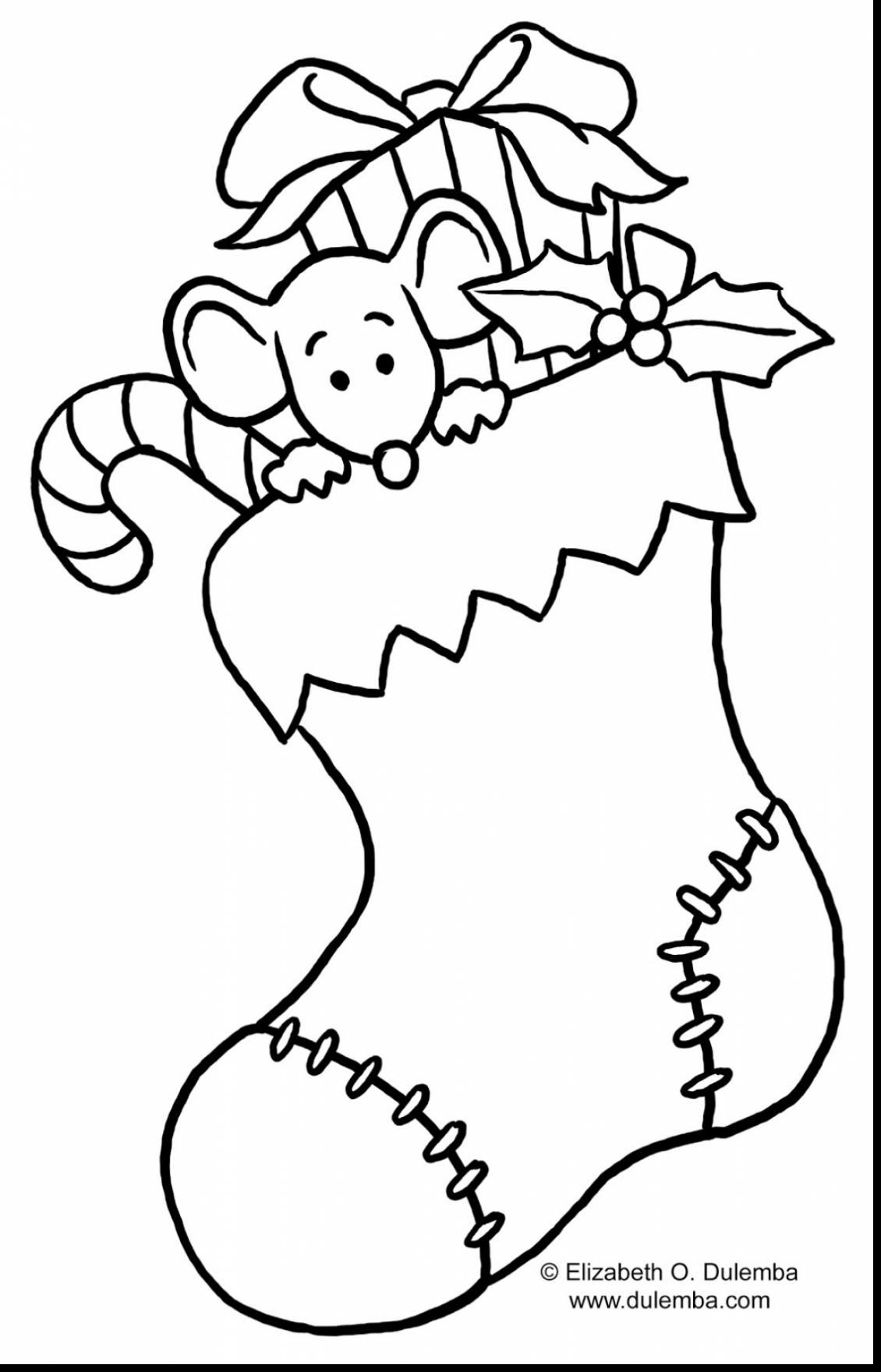 Printable Christmas Stocking Coloring Pages At