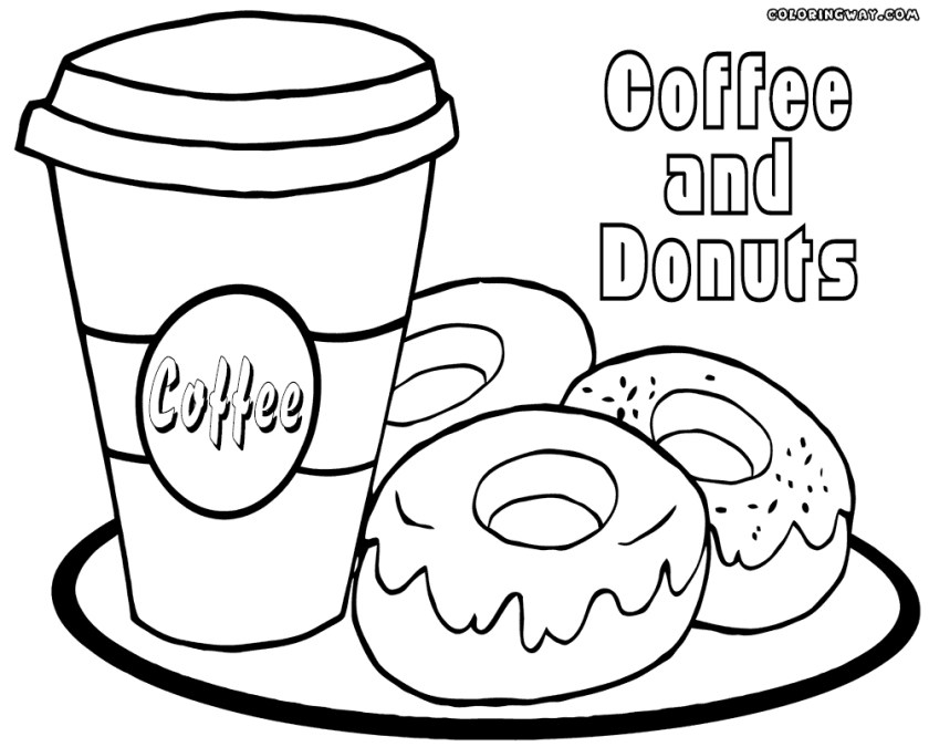 printable donut coloring pages at getcolorings  free