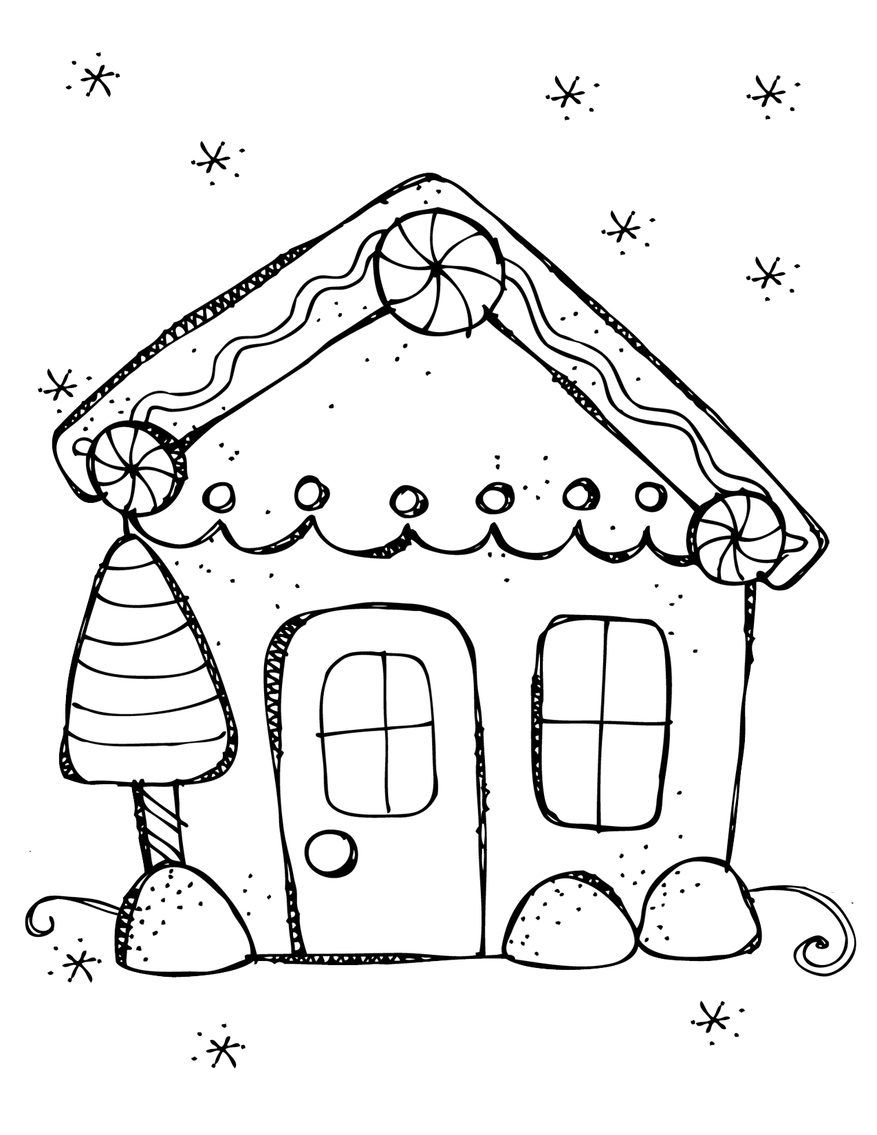 Printable Gingerbread House Coloring Pages At Getcolorings