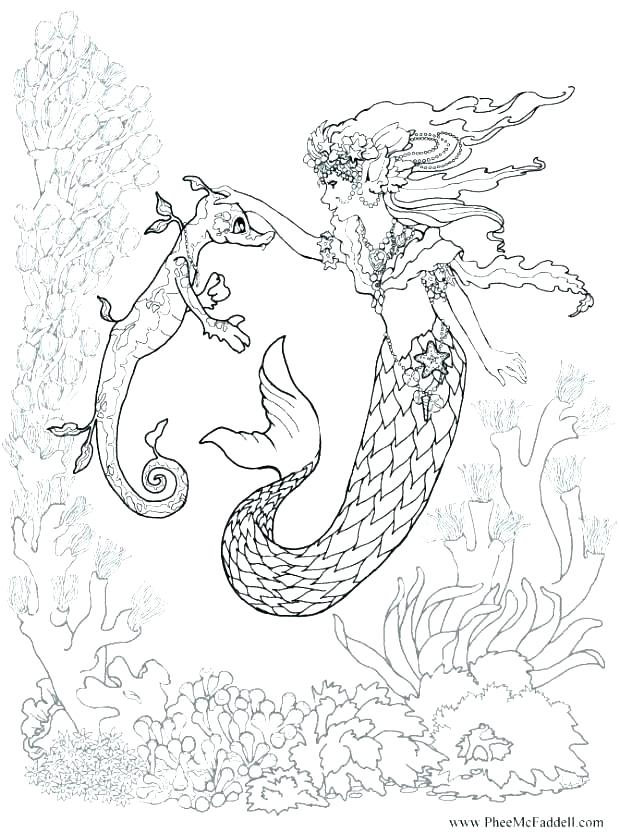 Printable Mermaid Coloring Pages at GetColorings.com