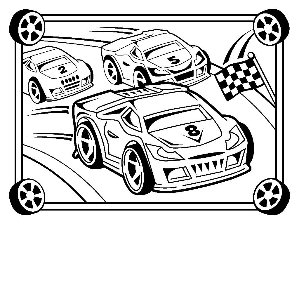 Race car coloring pages to print at getcolorings free