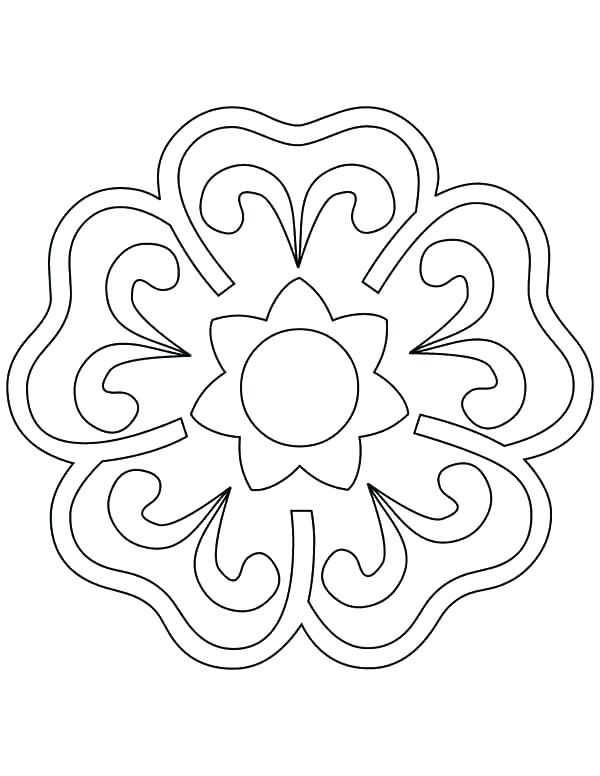 Rangoli Designs Printable Coloring Pages at GetColorings