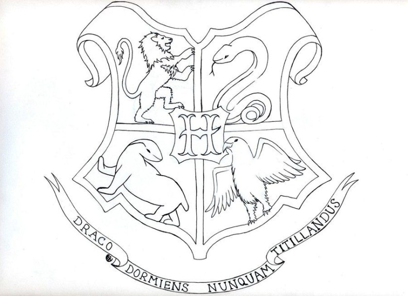 gryffindor crest coloring pages at getcolorings  free