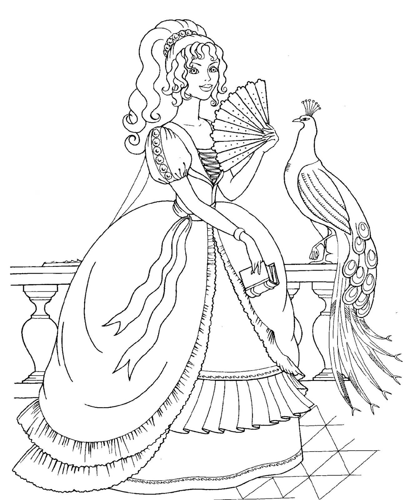 Realistic Princess Coloring Pages At Getcolorings