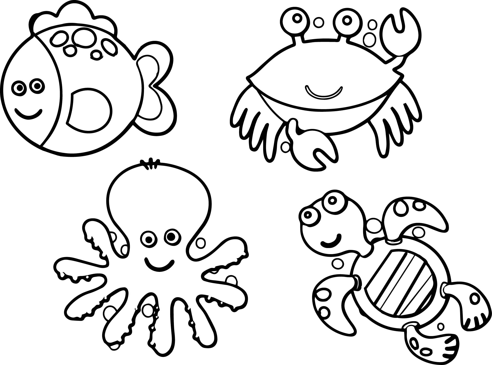Realistic Sea Life Coloring Pages at GetColorings.com