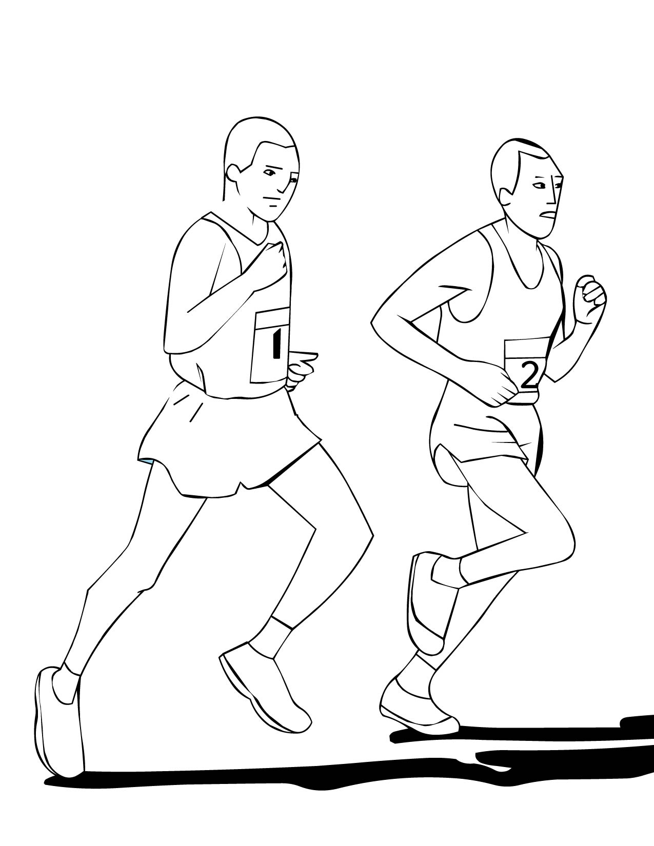 Running Coloring Pages At Getcolorings