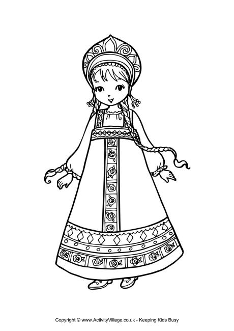 Russian Nesting Dolls Coloring Pages at GetColorings.com