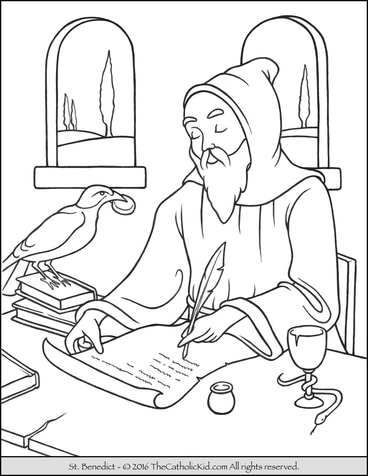 Saint Bernard Coloring Pages At Getcolorings