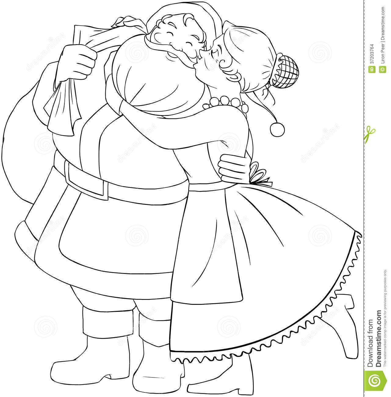 Santa And Mrs Claus Coloring Pages At Getcolorings