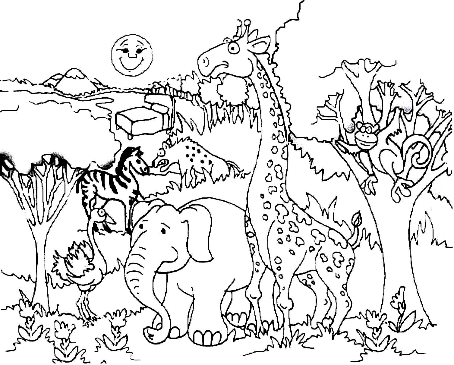 Savanna Animals Coloring Pages At Getcolorings