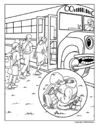 School Bus Safety Coloring Pages at GetColorings.com